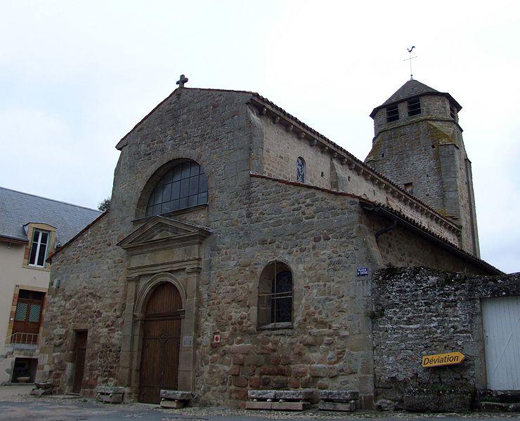 Photo du Monument Historique Ancienne église Saint-Martin, actuellement Saint-Jean-Baptiste situé à Toulon-sur-Arroux
