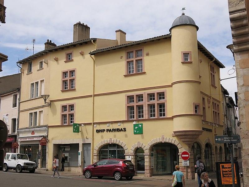 Photo du Monument Historique Maison dite de l'Escargot situé à Tournus