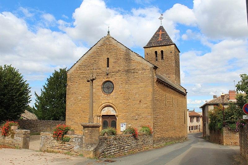 Photo du Monument Historique Eglise situé à Vinzelles