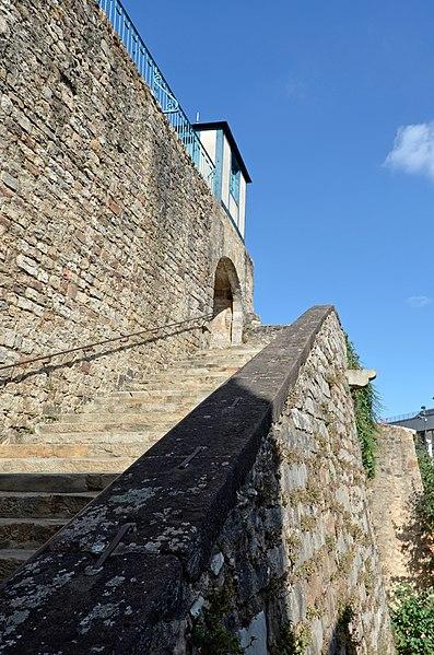 Photo du Monument Historique Escalier menant à la rue des Boucheries situé à Le Mans
