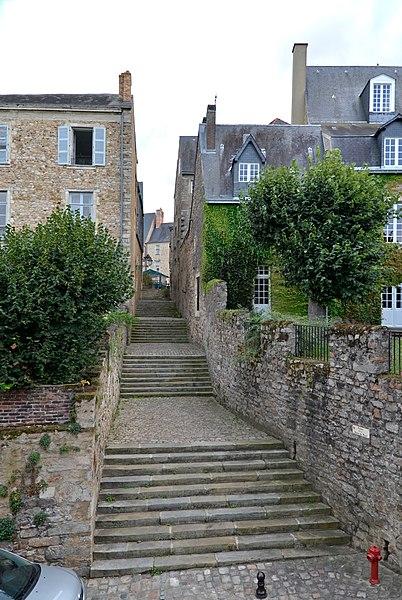 Photo du Monument Historique Escalier de la Grande-Rue à la rue de Vaux situé à Le Mans