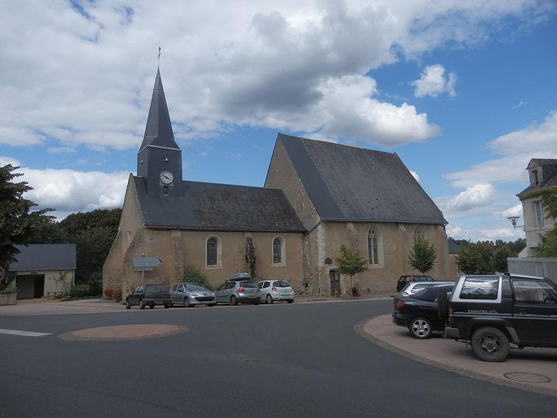 Photo du Monument Historique Eglise situé à Saint-Pierre-du-Lorouër