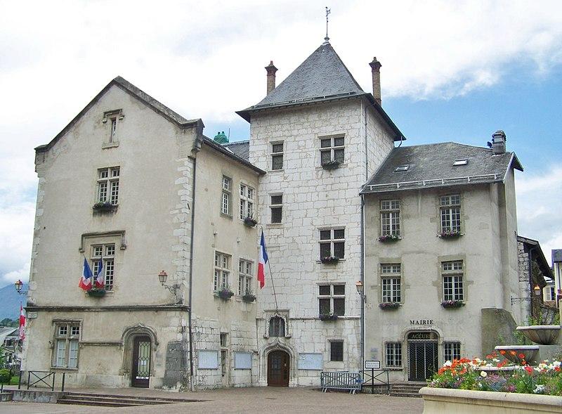 Photo du Monument Historique Hôtel de ville (ancien château des Marquis d'Aix) situé à Aix-les-Bains