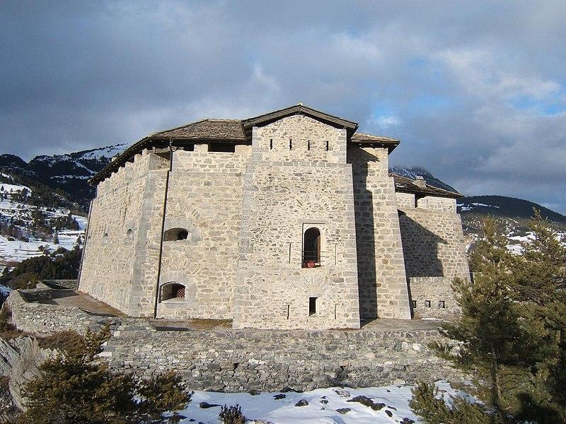 Photo du Monument Historique Forts de l'Esseillon : Fort Marie-Christine situé à Aussois