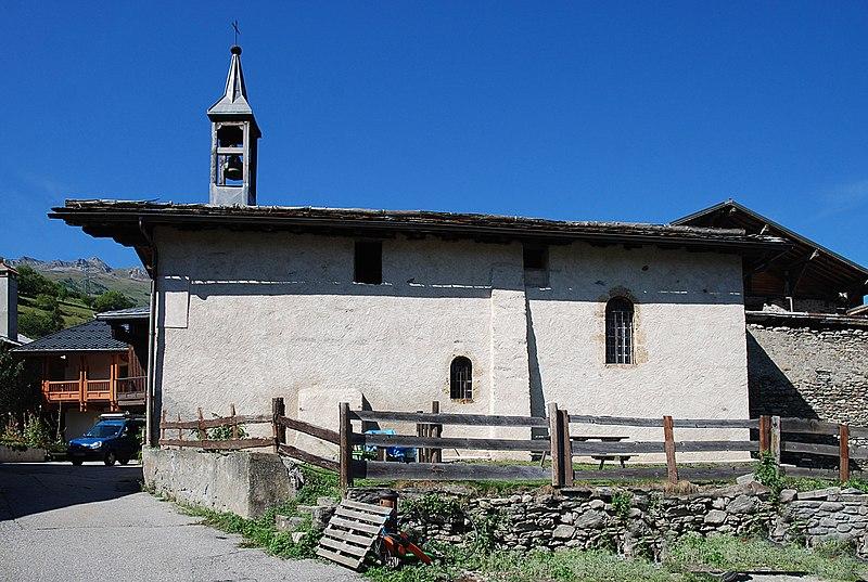 Photo du Monument Historique Chapelle Saint-Grat, au hameau de Vulmix situé à Bourg-Saint-Maurice