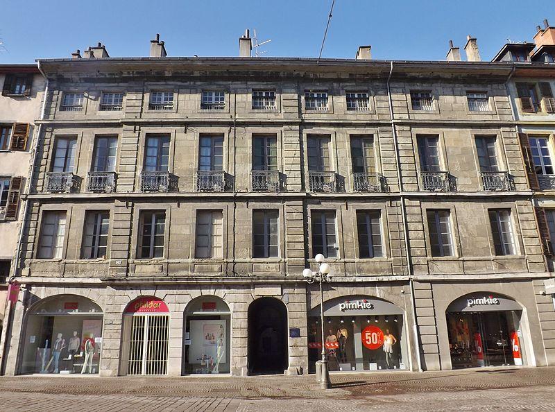 Photo du Monument Historique Hôtel de Montjoie situé à Chambéry