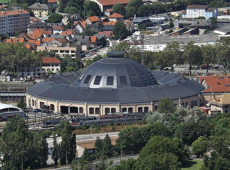 Photo du Monument Historique Remise ferroviaire dite rotonde SNCF situé à Chambéry