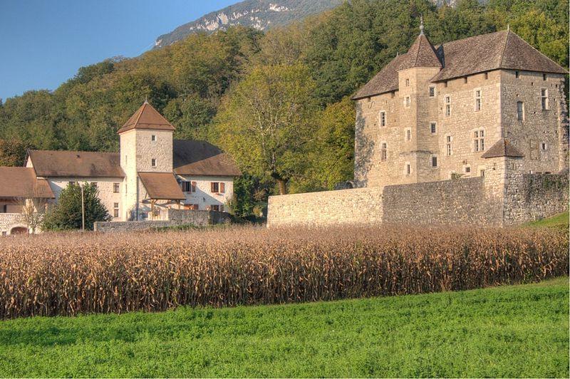 Photo du Monument Historique Château de Mécoras situé à Ruffieux
