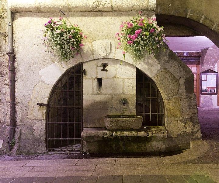 Photo du Monument Historique Fontaine Quiberet situé à Annecy
