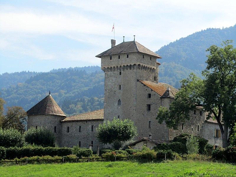Photo du Monument Historique Château d'Avully (ruines) situé à Brenthonne