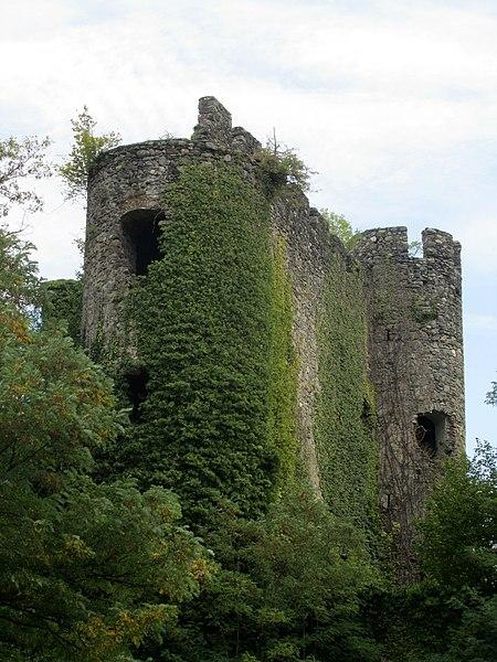 Photo du Monument Historique Château de la Rochette (restes) situé à Lully