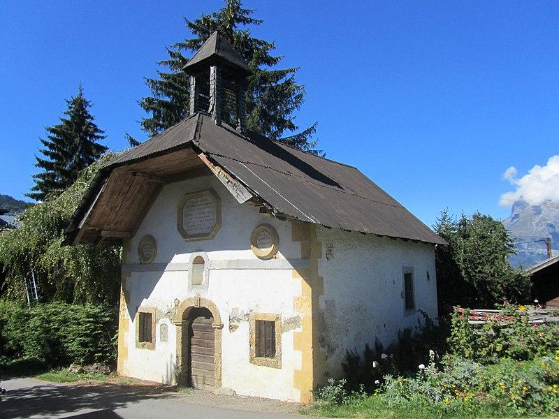 Photo du Monument Historique Chapelle du hameau des Plans, à Saint-Nicolas-de-Véroce situé à Saint-Gervais-les-Bains