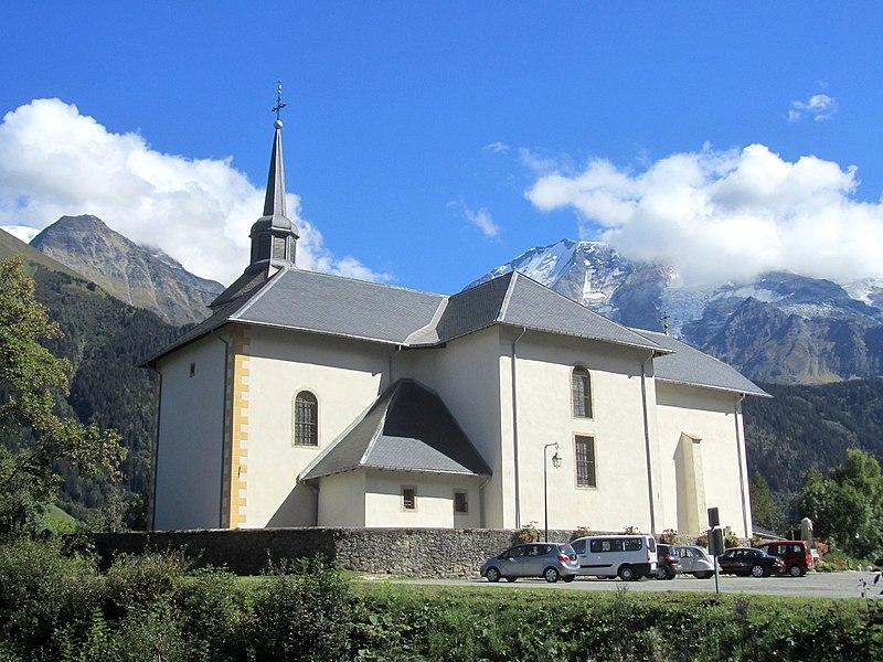 Photo du Monument Historique Eglise Saint-Nicolas-de-Véroce situé à Saint-Gervais-les-Bains