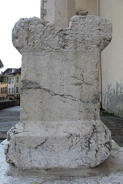 Photo du Monument Historique Inscription gallo-romaine situé à Seyssel