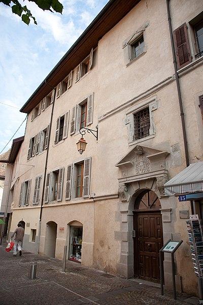 Photo du Monument Historique Château des Guillet-Monthoux situé à Thonon-les-Bains