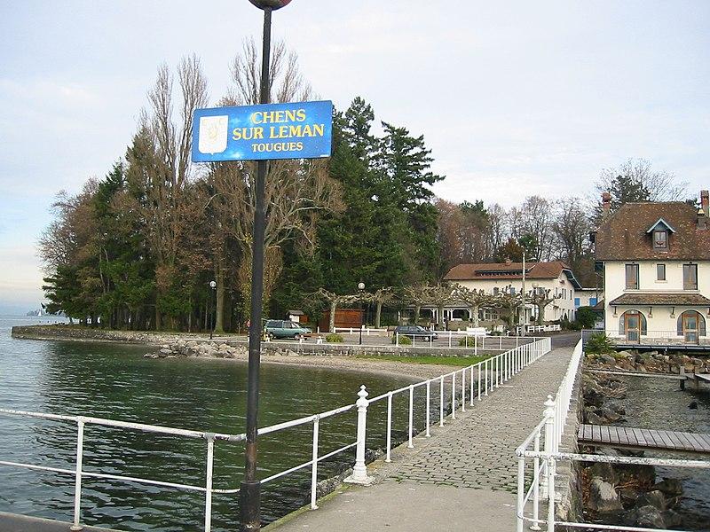 Photo du Monument Historique Station littorale immergée dite Le Port de Tougues situé à Chens-sur-Léman
