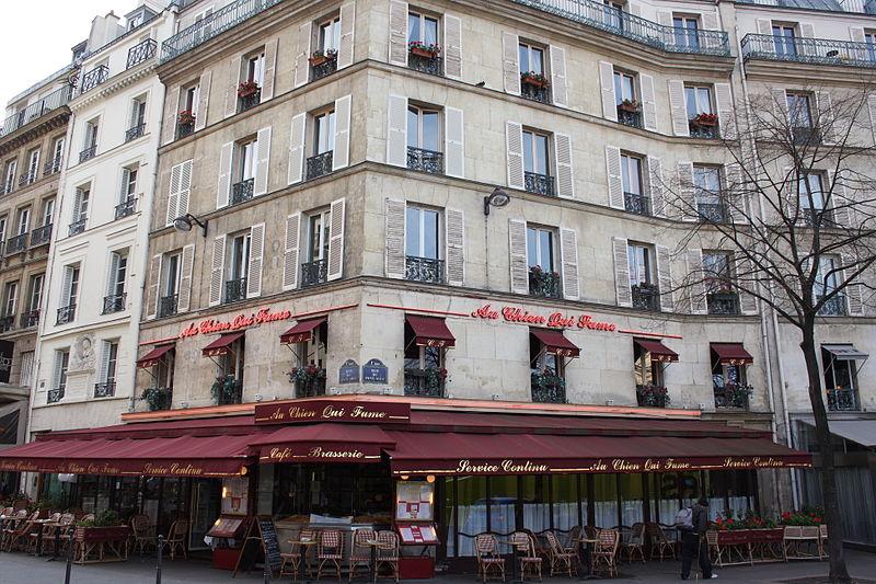 Photo du Monument Historique Bar-restaurant Au chien qui fume situé à Paris 1er Arrondissement