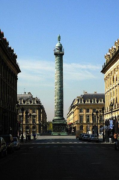 Photo du Monument Historique Colonne Vendôme situé à Paris 1er Arrondissement