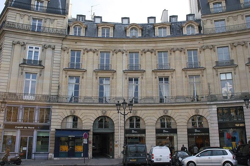 Photo du Monument Historique Ancien hôtel Bauyn de Péreuse situé à Paris 1er Arrondissement