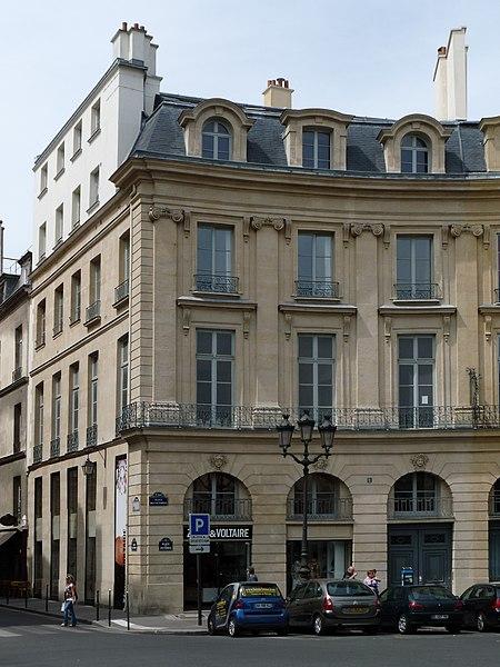 Photo du Monument Historique Ancien hôtel Bergeret de Grancourt situé à Paris 1er Arrondissement