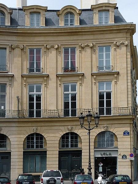 Photo du Monument Historique Ancien hôtel Bergeret de Talmont situé à Paris 1er Arrondissement
