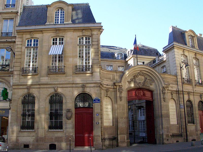 Photo du Monument Historique Ancien hôtel Bullion, puis hôtel de la Caisse d'Epargne et de Prévoyance de Paris situé à Paris 1er Arrondissement