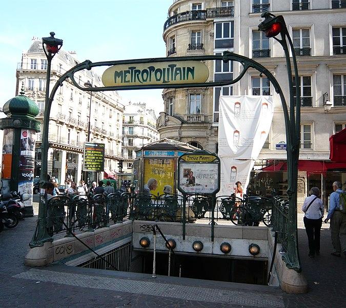 Photo du Monument Historique Métropolitain, station Etienne-Marcel situé à Paris 1er Arrondissement