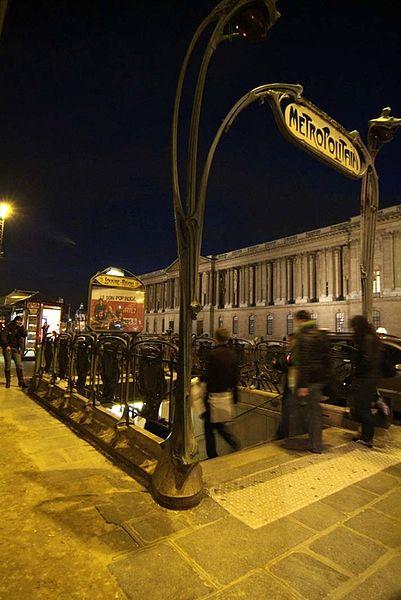 Photo du Monument Historique Métropolitain, station Louvre situé à Paris 1er Arrondissement