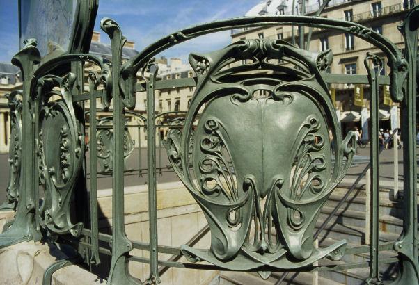 Photo du Monument Historique Métropolitain, station Palais-Royal situé à Paris 1er Arrondissement