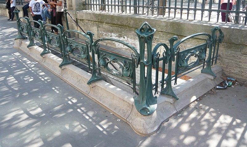 Photo du Monument Historique Métropolitain, station Tuileries situé à Paris 1er Arrondissement