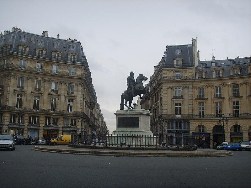 Photo du Monument Historique Place des Victoires : le sol situé à Paris 1er Arrondissement