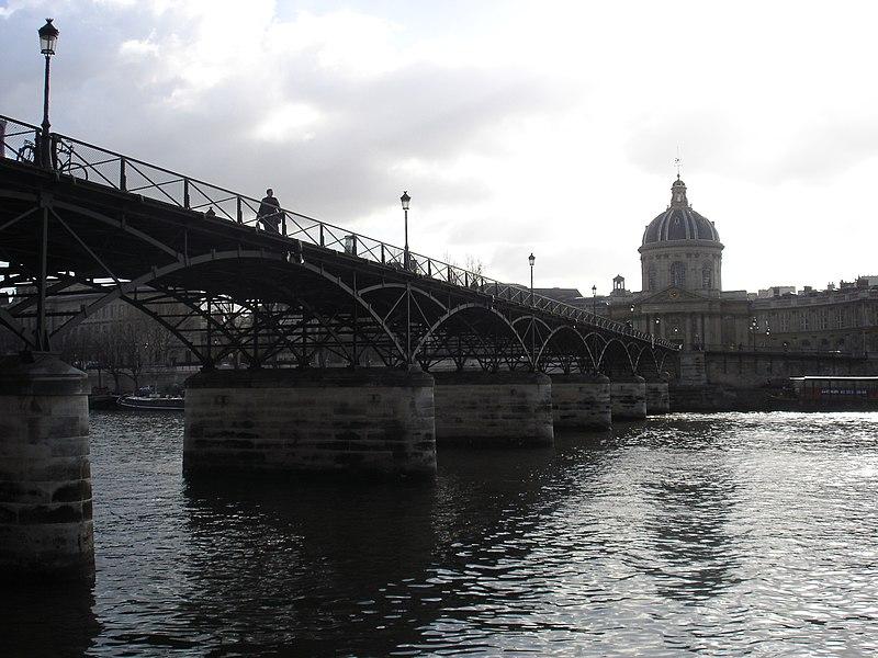 Photo du Monument Historique Pont des Arts situé à Paris 1er Arrondissement