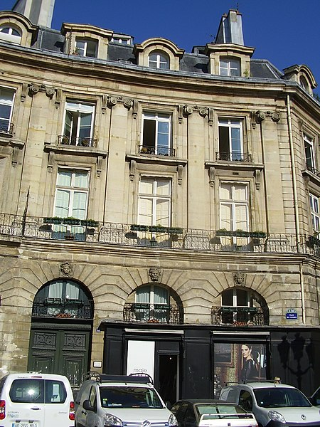 Photo du Monument Historique Ancien hôtel Cornette ou ancien hôtel Le Duc-Desnoues situé à Paris 2e Arrondissement