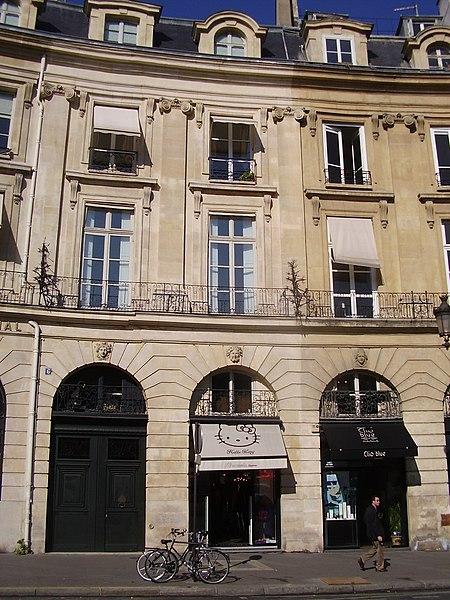 Photo du Monument Historique Ancien hôtel de Prévenchères, ou hôtel Lenoir situé à Paris 2e Arrondissement