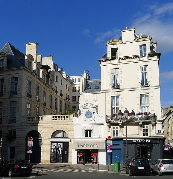 Photo du Monument Historique Ancien hôtel Rambouillet de la Sablière, ou hôtel Clairambault situé à Paris 2e Arrondissement