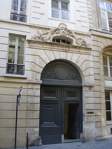 Photo du Monument Historique Ancien hôtel situé à Paris 2e Arrondissement