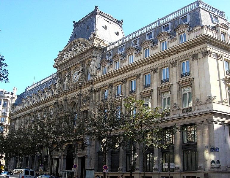 Photo du Monument Historique Immeuble du Crédit Lyonnais (siège) situé à Paris 2e Arrondissement