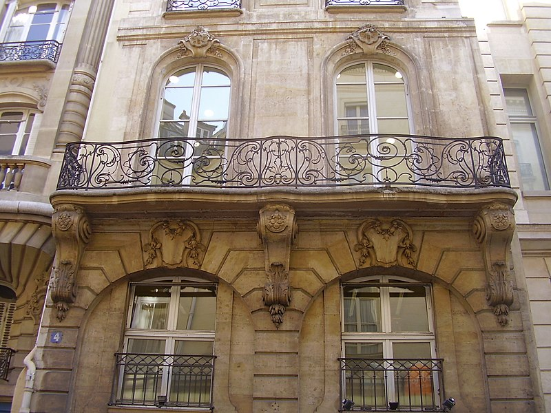 Photo du Monument Historique Immeuble du 18e siècle, dit hôtel de La Feuillade situé à Paris 2e Arrondissement