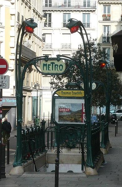 Photo du Monument Historique Métropolitain, station Réaumur-Sébastopol situé à Paris 2e Arrondissement