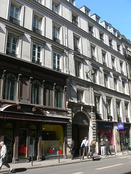 Photo du Monument Historique Immeuble, anciennement hôtel de l'Europe et des Princes situé à Paris 2e Arrondissement
