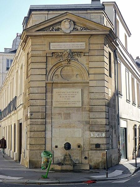 Photo du Monument Historique Fontaine publique dite Fontaine Boucherat situé à Paris 3e Arrondissement