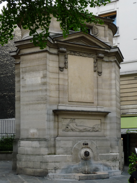 Photo du Monument Historique Fontaine publique des Haudriettes situé à Paris 3e Arrondissement