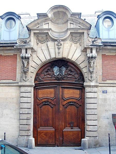 Photo du Monument Historique Hôtel d'Almeyras (ancien hôtel de Fourcy) situé à Paris 3e Arrondissement