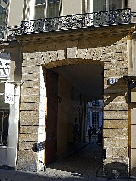 Photo du Monument Historique Ancien hôtel de Bérancourt, dit aussi hôtel de La Garde, ou hôtel de Polignac situé à Paris 3e Arrondissement