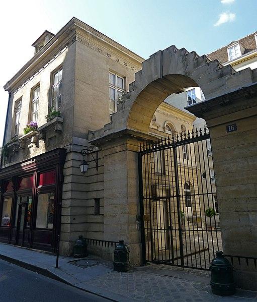 Photo du Monument Historique Ancien hôtel de Bonneval situé à Paris 3e Arrondissement