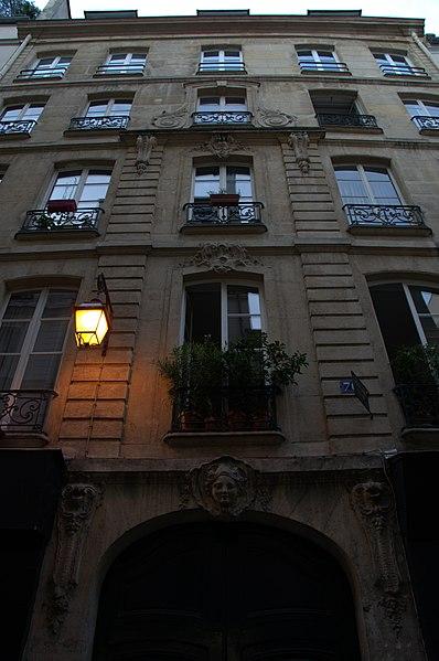 Photo du Monument Historique Immeuble dit petit hôtel d'Estrées situé à Paris 3e Arrondissement