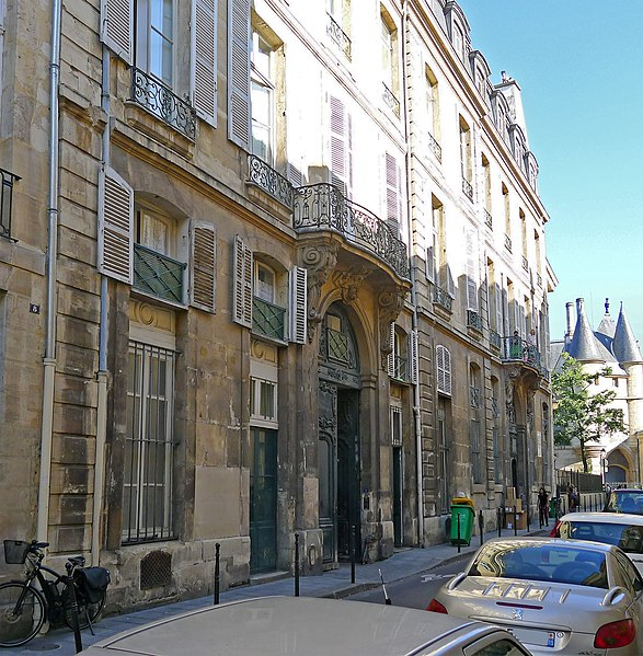 Photo du Monument Historique Hôtel Le Lièvre  ou de La Grange situé à Paris 3e Arrondissement