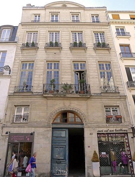 Photo du Monument Historique Hôtel de Pologne situé à Paris 3e Arrondissement