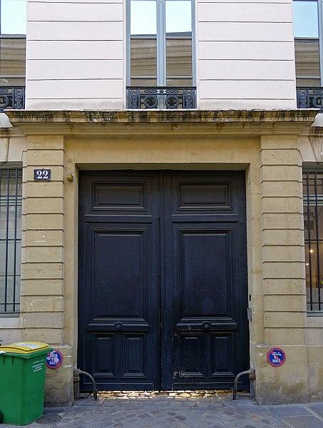 Photo du Monument Historique Hôtel Thirioux d'Arconville situé à Paris 3e Arrondissement