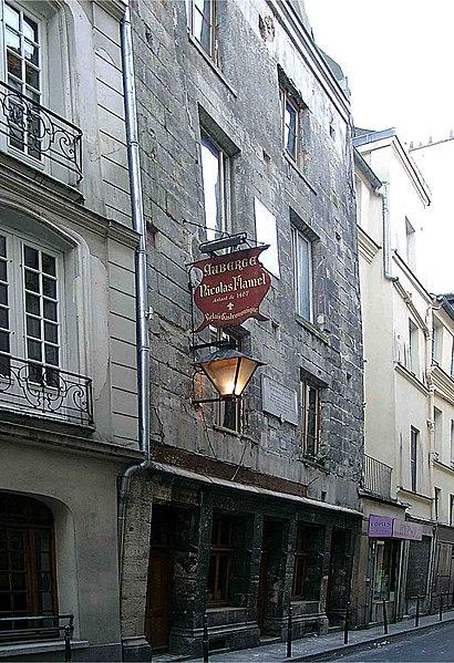 Photo du Monument Historique Maison dite de Nicolas Flamel situé à Paris 3e Arrondissement